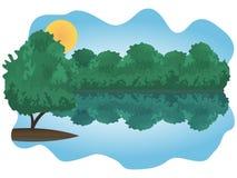 Arbustos sobre el lago Imagenes de archivo