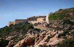 Arbutigi fort. Caprera (La Maddalena archipelago - Sardinia) Stock Image