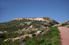 Arbutigi fort. Caprera (La Maddalena archipelago - Sardinia) Royalty Free Stock Images