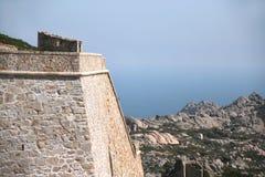Arbutigi fort, La Maddalena (Sardinia). Arbutigi fort, La Maddalena (Sardinia- Italy Royalty Free Stock Photos