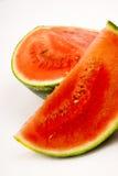 Arbuzów plasterków produkt spożywczy sekcj bielu Wielki Melonowy Owocowy tło Obraz Stock