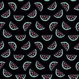Arbuza bezszwowy wzór Ręka rysujący dekoraci tło dla twój biznesu Zdjęcie Stock
