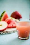 Arbuza i jabłka zimno - naciskający sok obrazy royalty free