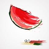Arbuza owocowy plasterek Zdjęcia Royalty Free