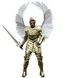 Arcángel Michael en armadura de oro Imágenes de archivo libres de regalías