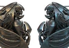 Arcángel robótico del metal Imagen de archivo