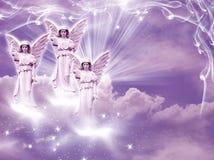 Arcángeles de los ángeles stock de ilustración