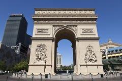 Arcâ de Triunfo - hotel de Paris, Las Vegas, nanovolt Imagem de Stock