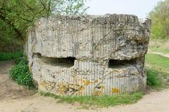 Arcón alemana en la colina 60 cerca de Ypres fotos de archivo