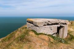 Arcón alemana en la costa cerca de Etretat en un día soleado en verano fotos de archivo libres de regalías