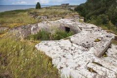 Arcón concreta arruinada vieja a partir del período de WWII Imagen de archivo