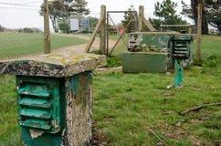 Arcón de la guerra fría, parque de Lepe, Hampshire Foto de archivo libre de regalías