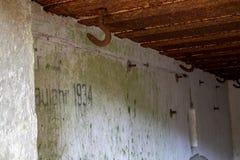 Arcón demolida en Europa Central Hormigón reforzado viejo para fotografía de archivo libre de regalías