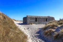 Arcón en la playa de Skagen, Dinamarca Fotos de archivo
