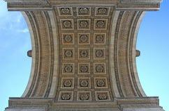 The Arc. Arc de triumph, the famous monument in Paris France Royalty Free Stock Image
