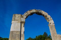Arc in ancient antique city of Efes, Ephesus ruins. Ancient antique city of Efes Celsus library ruin in Turkey. Ancient Greek city Ephesus ruins on the southern stock photos