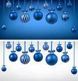 Arc background with blue christmas balls. Royalty Free Stock Photography