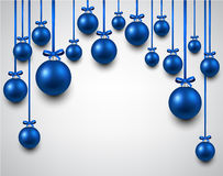 Arc background with blue christmas balls. Abstract arc background with blue christmas balls. Vector illustration. r Royalty Free Stock Images