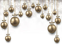 Arc background with golden christmas balls. Royalty Free Stock Photos
