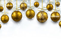 Arc background with golden christmas balls. Stock Image