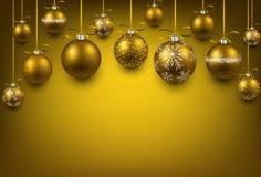 Arc background with golden christmas balls. Abstract arc background with golden christmas balls. Vector illustration Stock Photo