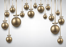 Arc background with golden christmas balls. Abstract arc background with golden christmas balls. Vector illustration Stock Images
