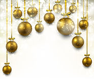 Arc background with golden christmas balls Stock Images