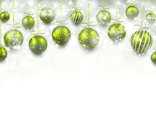 Arc background with green christmas balls. Stock Image