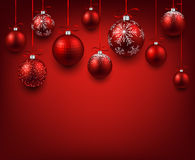 Arc background with red christmas balls. Royalty Free Stock Image