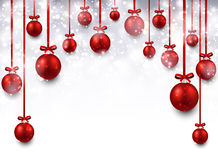 Arc background with red christmas balls. Abstract arc background with red christmas balls. Vector illustration Royalty Free Stock Image
