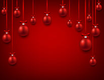 Arc background with red christmas balls. Royalty Free Stock Photo