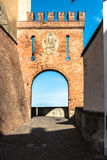 Arc in Barolo Castle, Italy Stock Images