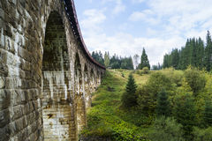 Arc bridges in Vorokhta. Heritage of Austrian Empire Royalty Free Stock Image
