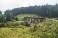 Arc bridges in Vorokhta. Heritage of Austrian Empire Stock Photo