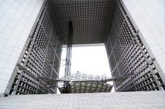 arc building de defense法国巴黎s旅行 图库摄影