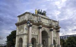 arc carrousel de du巴黎triomphe 库存图片
