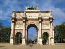 arc carrousel de du法国巴黎triomphe 免版税库存照片