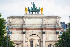 arc carrousel de du Παρίσι triomphe Στοκ Εικόνες