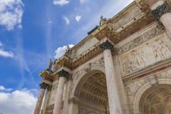 arc carrousel de du Παρίσι triomphe Στοκ Εικόνα