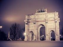 arc carrousel de du巴黎triomphe 图库摄影