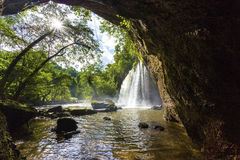 Arc Of  Cave At Haew Suwat Waterfall Khao Yai National Park. In The Jungle Of Thailand Royalty Free Stock Photos