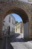 The arc in center city of Faro stock image