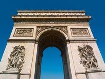arc champs ・ de elysee巴黎triomphe 库存照片