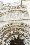 Arc, Church in the Orense region, exterior of gothic cathedral i. N Spain Stock Image