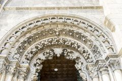 Arc, Church in the Orense region, exterior of gothic cathedral i. N Spain Royalty Free Stock Photos