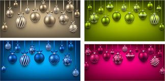 Arc colorful backgrounds with christmas balls. Stock Photo