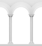 Arc with column. Antique white object Stock Photos