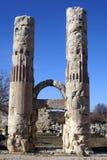 Arc and columns. Of Zeus temple in Uzunjaburch, Turkey Stock Photography