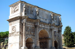 Arc of Constantine. Famous Arc of Constantine Rome Italy Royalty Free Stock Images