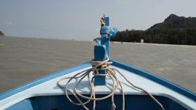 Arc de bateau de longtail banque de vidéos